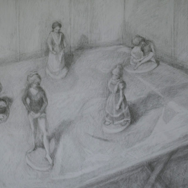Display, Graphite on Paper, 17.75 x 23.75 in, 2013